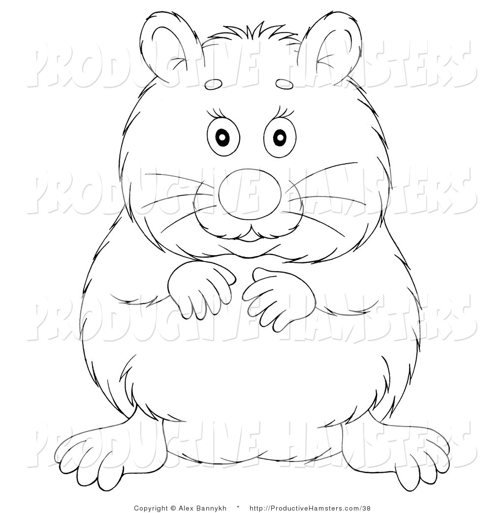 Hamster clipart black and white 8 » Clipart Station.