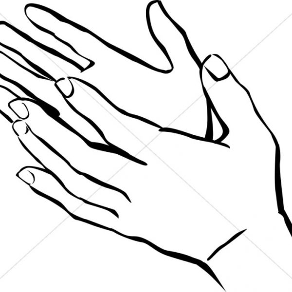 Clap Clipart Black And White Cute Borders, Vectors, Animated, Black.
