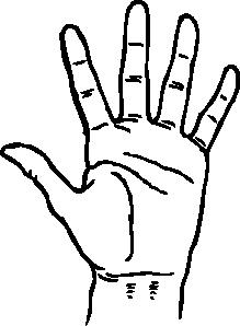 Hand Clip Art Black And White.