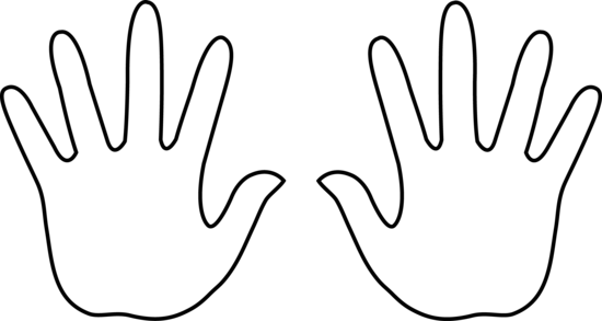 Two Hands Clipart Black And White Clipart Panda Free Clipart.