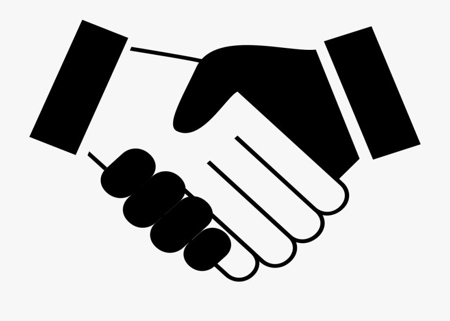 Vector Unity Hand Shake.