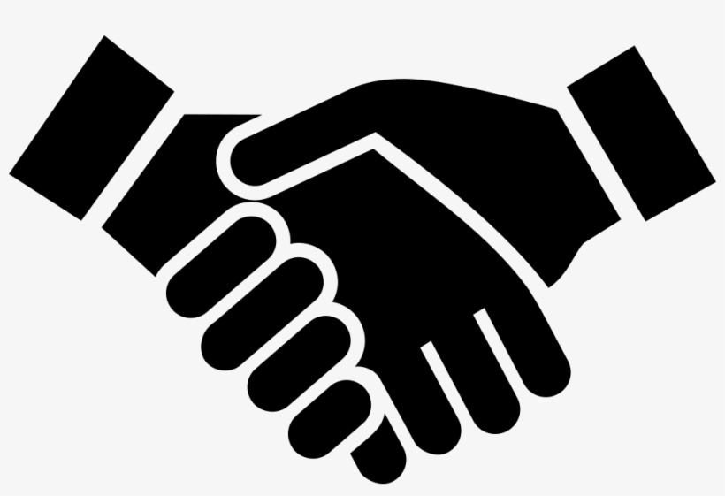 Handshake Vector Png Clipart Black And White Library.