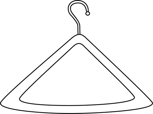 Hanger clipart black and white 3 » Clipart Station.