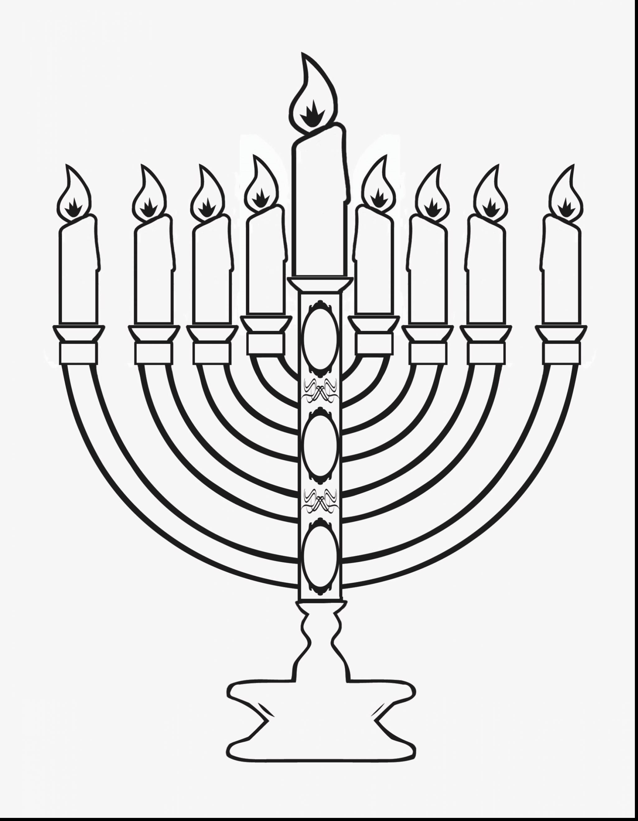 Hanukkah Menorah Outline.