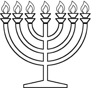 Hanukkah Clipart Black And White.