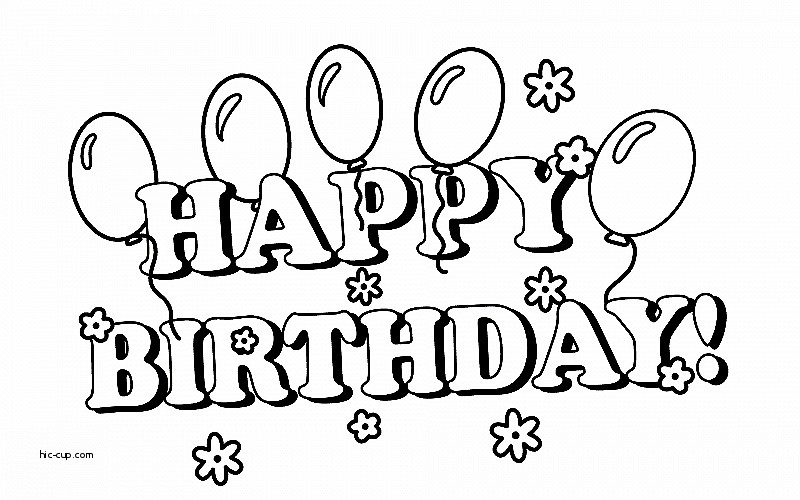 Happy Birthday Clipart Free Black And White.