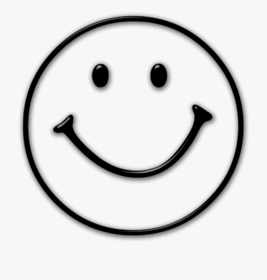 Free Library Happy Face Clipart Black And White.
