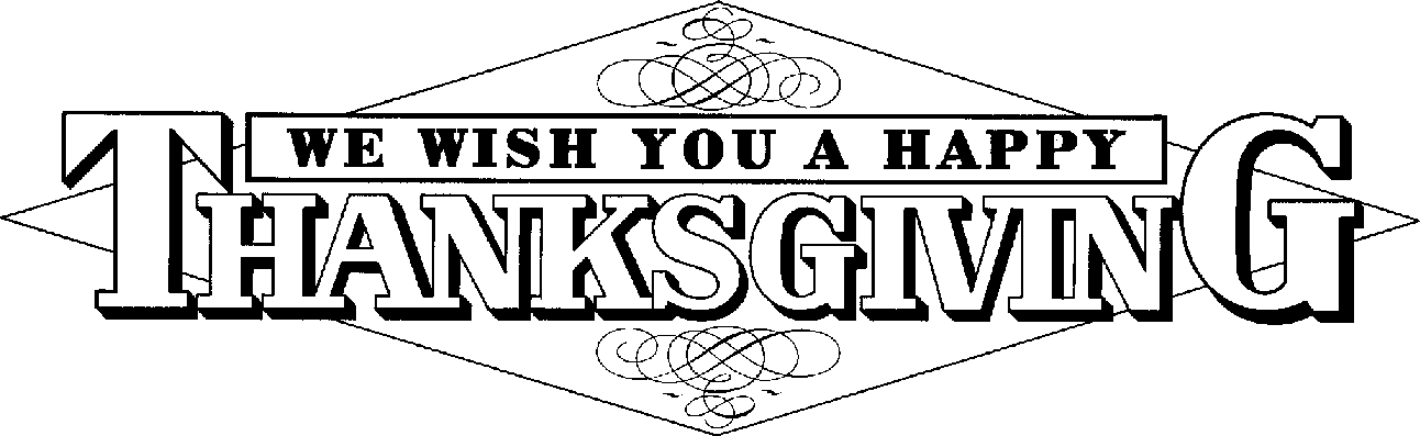 Thanksgiving black and white happy thanksgiving turkey clipart.