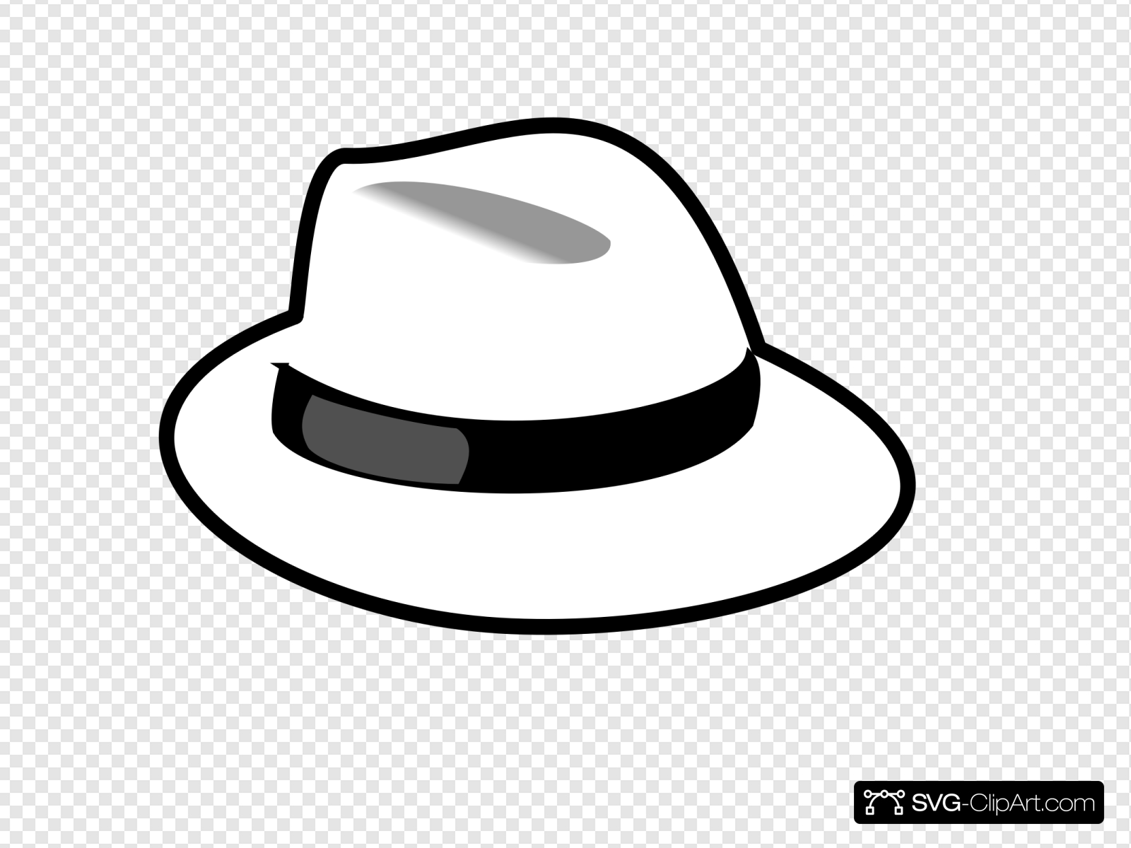 White Hat Clip art, Icon and SVG.