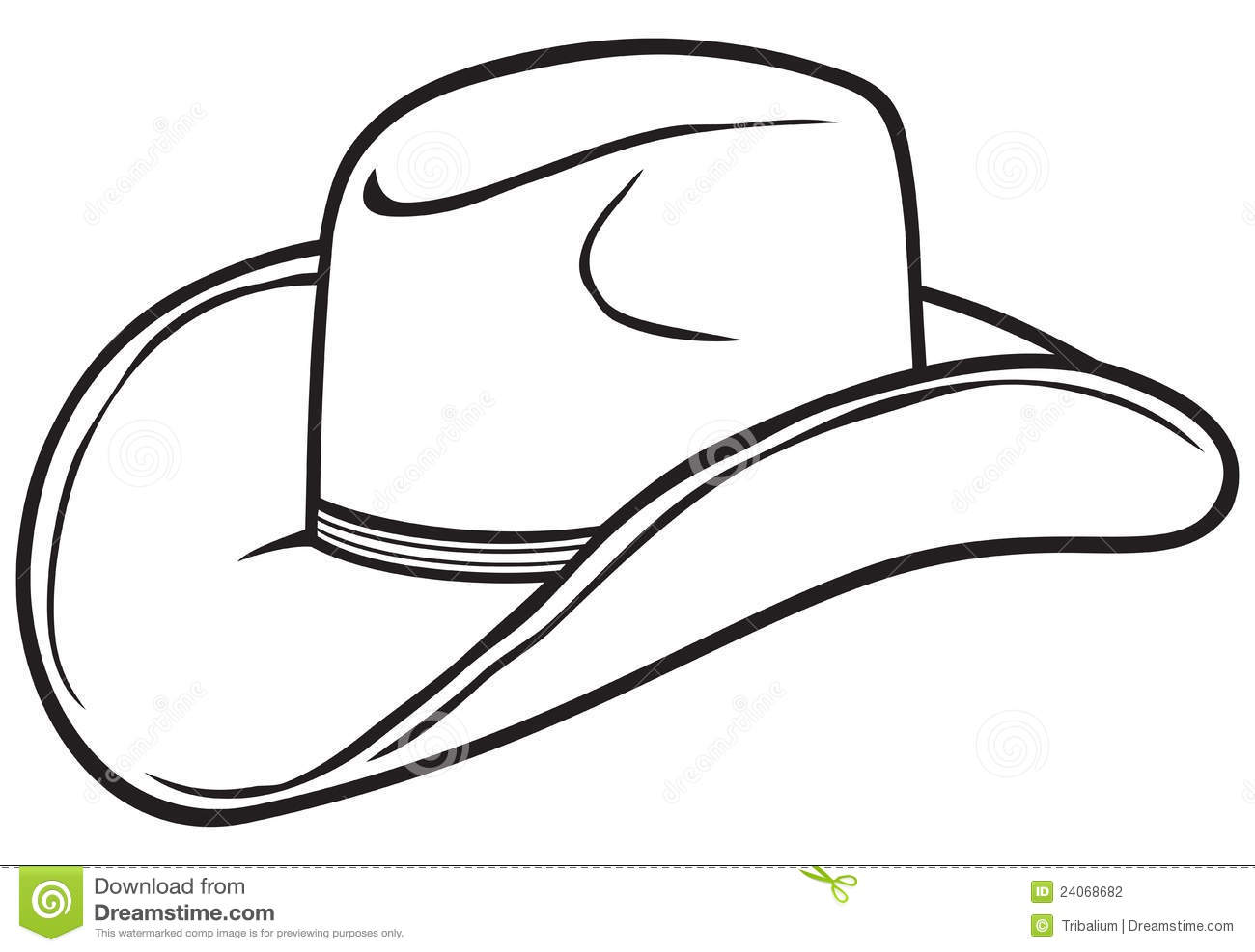 Clip Art Black And White Hat And Boots Cli #198367.