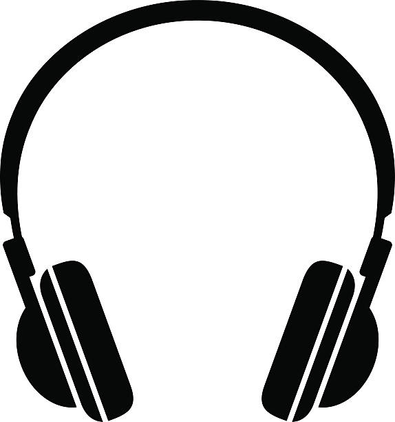 Headphone Clipart Black And White.