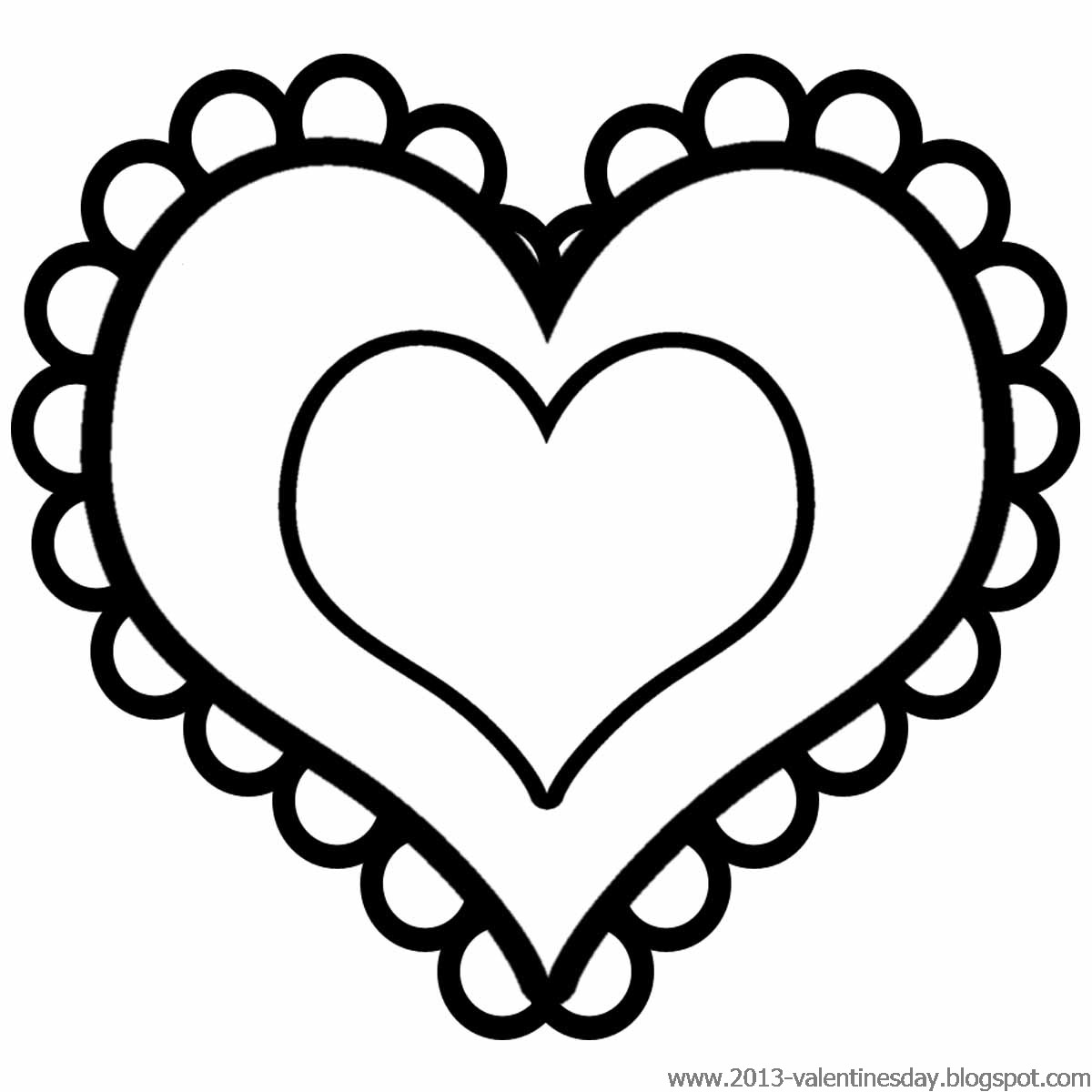 Black And White Valentine Heart Clipart Free.