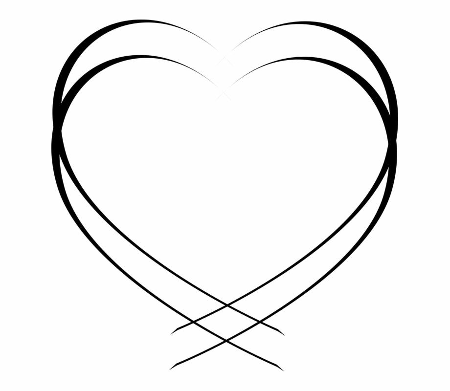 White Heart Shape Png.