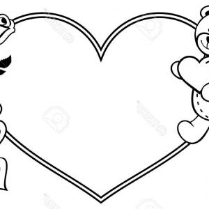 Heart Outline Clipart Black And White Black And White Heart Clip Art.