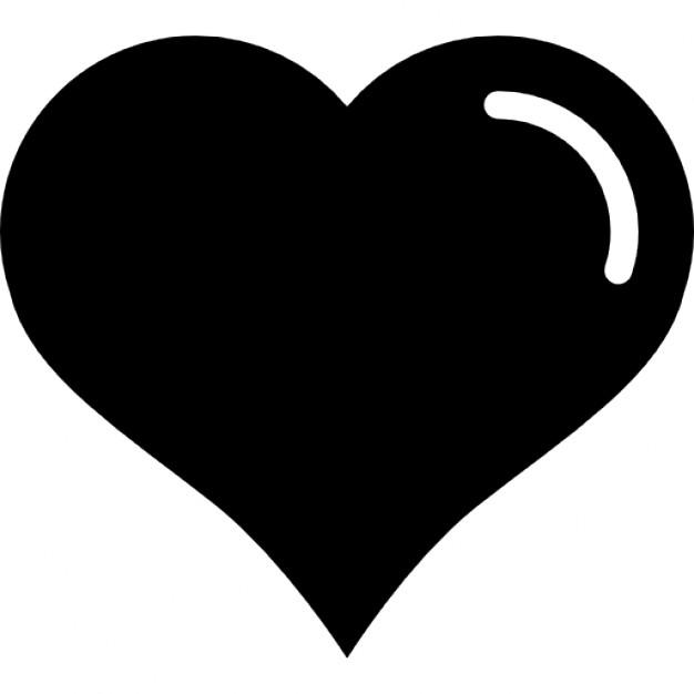 Heart Shaped Clipart Black And White.