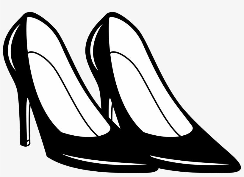 Vector High Heel Shoe Clipart.