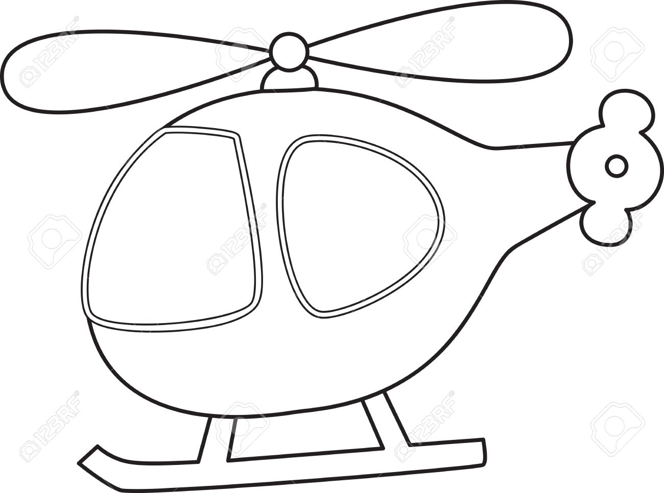 Helicopter Clipart Black And White.