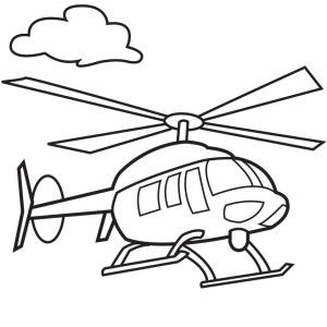 Helicopter black and white clipart 3 » Clipart Station.