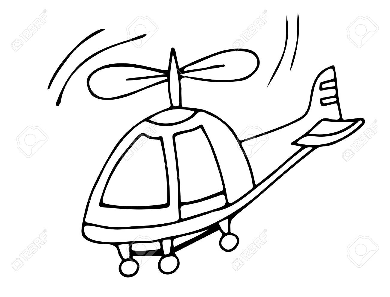 Helicopter Clipart Black.
