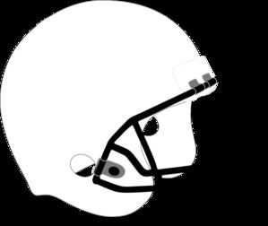Football Helmet White Black Clip Art at Clker.com.