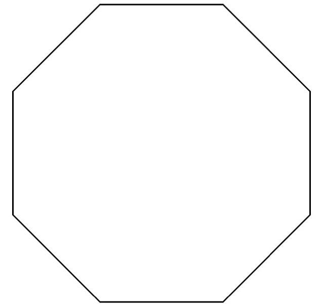 Octigon Clipart Hexagon.