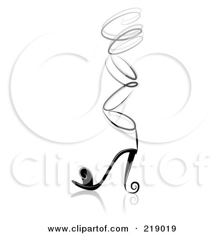 black and white high heels clipart
