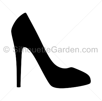 black and white high heels clipart  clipground