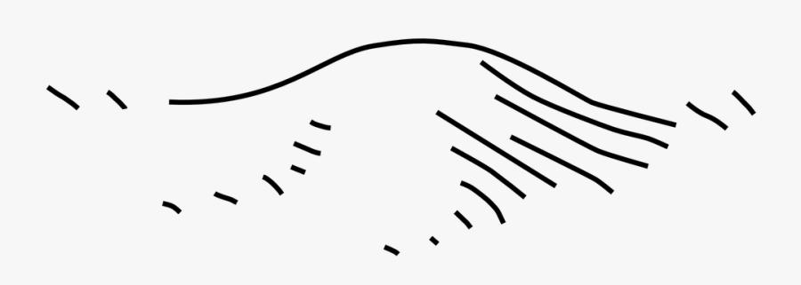 Map, Symbols, Hill, Bump, Sign.