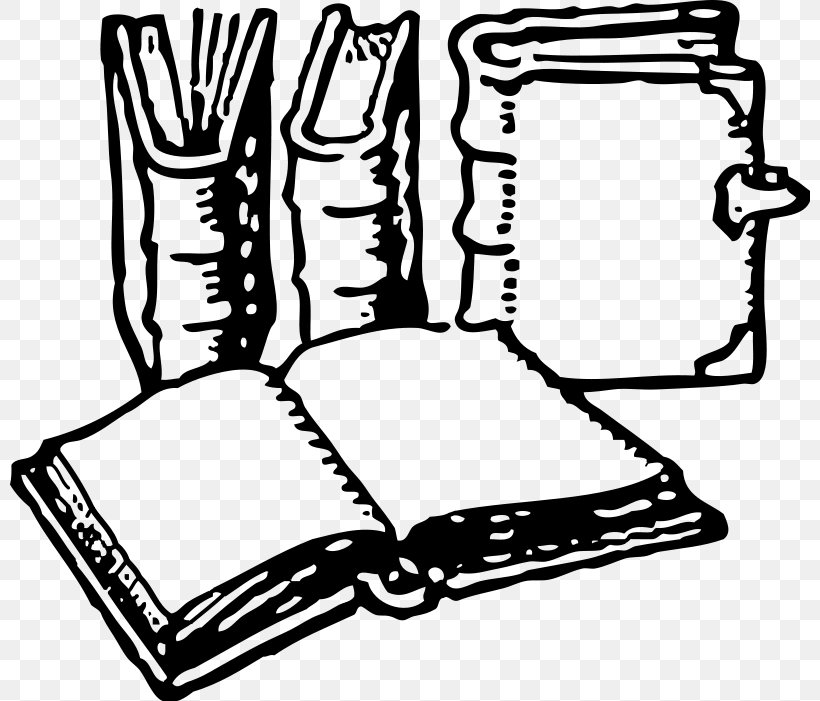 Black And White Free Content History Of Books Clip Art, PNG.