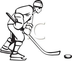 Hockey clipart black and white 7 » Clipart Station.