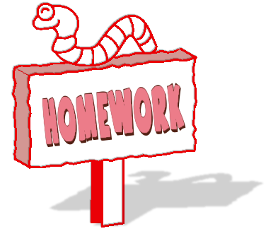 Homework clipart black and white free images.