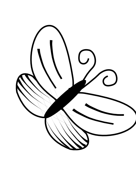 Butterfly Clipart Png Black And White.