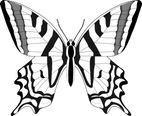 Butterfly Clipart Silhouette.