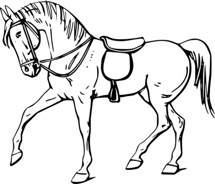 Best Horse Clipart Black and White #28968.
