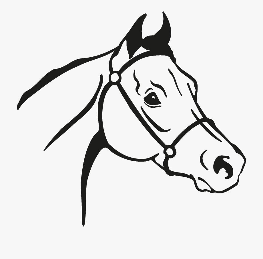 Horse Head Silhouette Png.