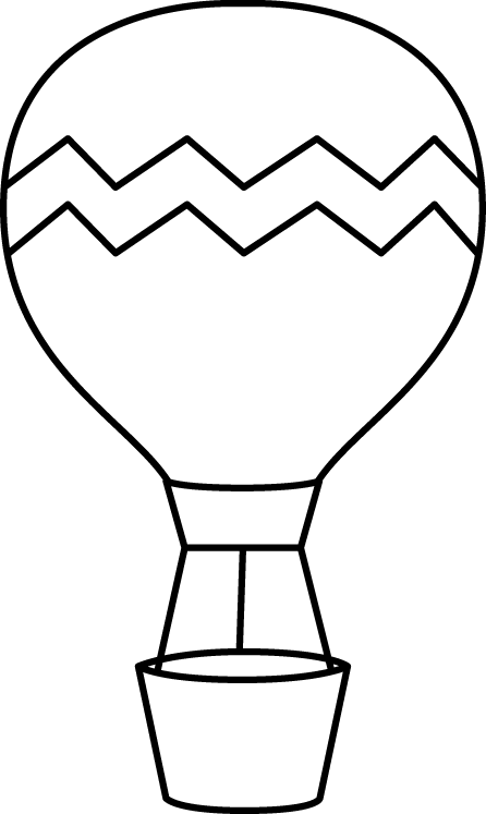 Black and White Striped Hot Air Balloon.