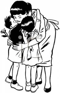 Hug clipart black and white 1 » Clipart Station.