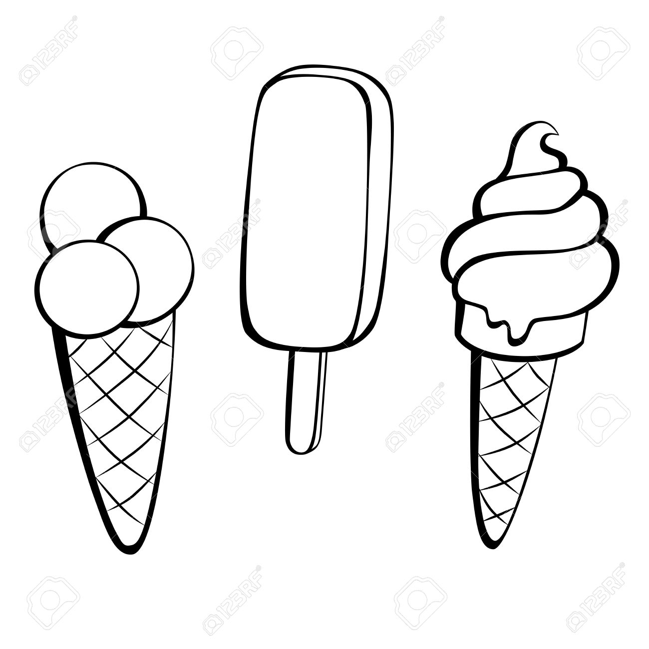 Black and white ice cream clipart 5 » Clipart Station.