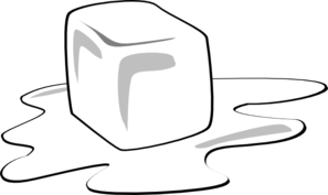 Ice Cube Clip Art Black and White.