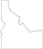 United States Black White Outline Map Clip Art Graphics.