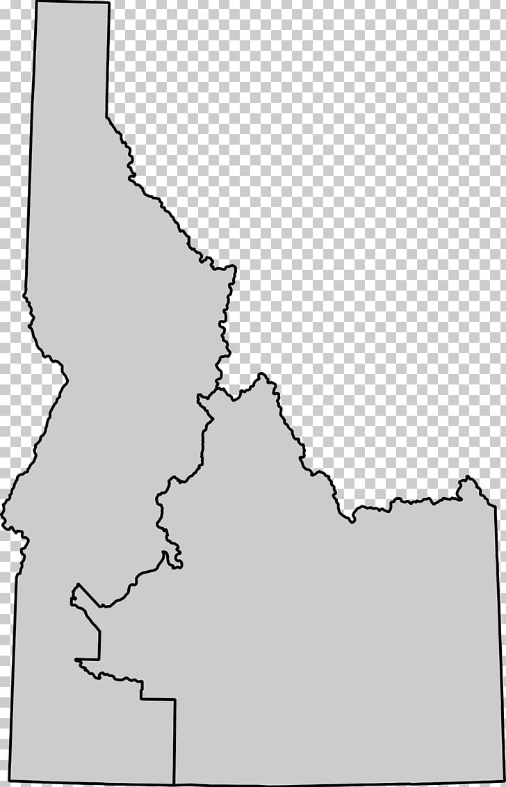 White Idaho Map Point Angle PNG, Clipart, Angle, Area, Black.