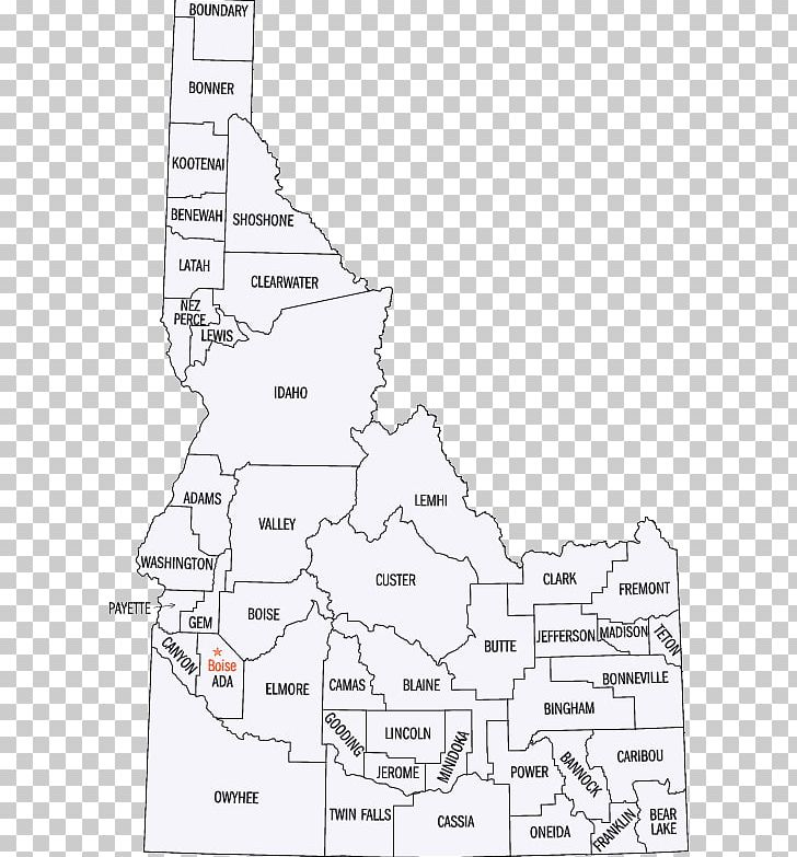 Idaho County PNG, Clipart, Angle, Area, Black And White.