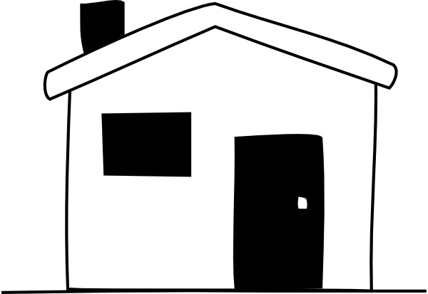 Images: Home Clipart Black And White.