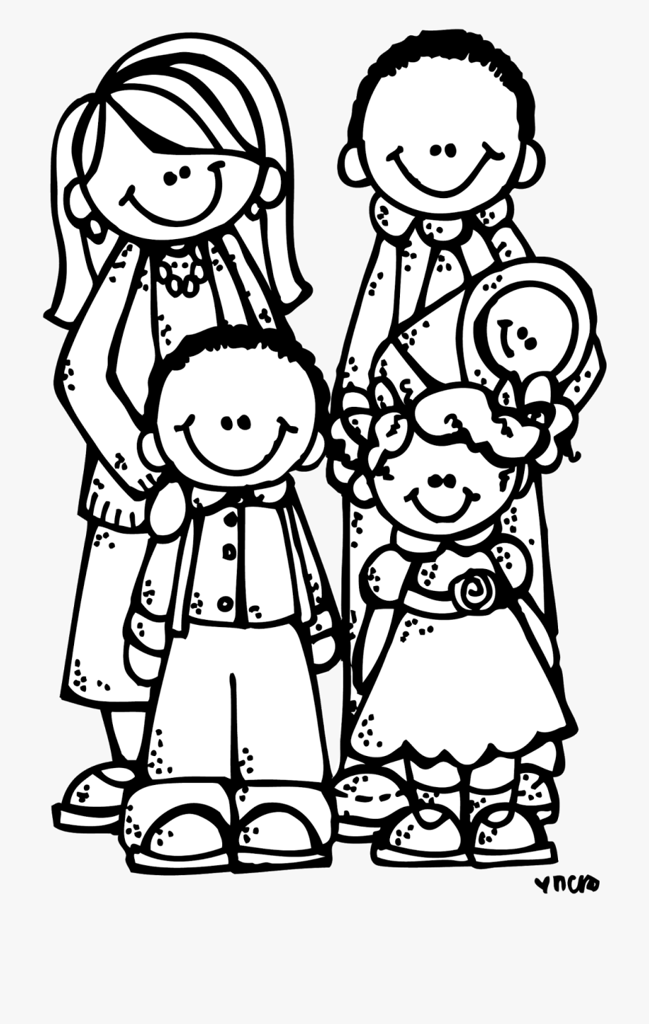 Family Black And White Family Clipart Black And White.