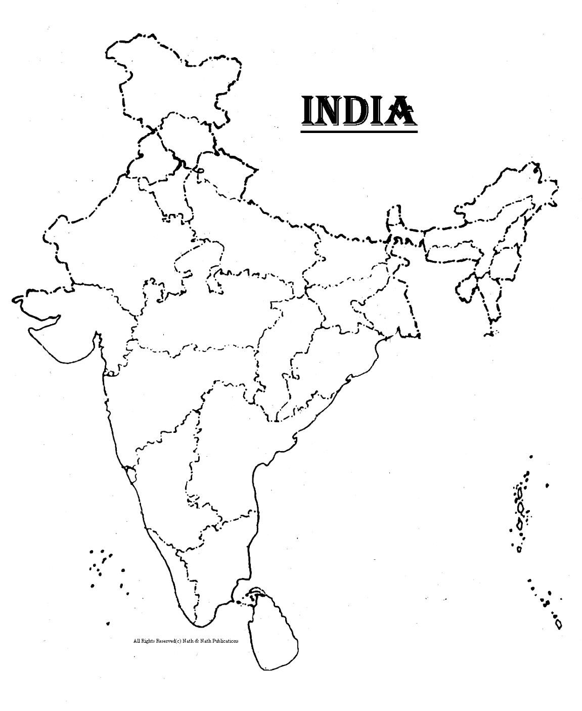 India map clipart black and white 3 » Clipart Station.