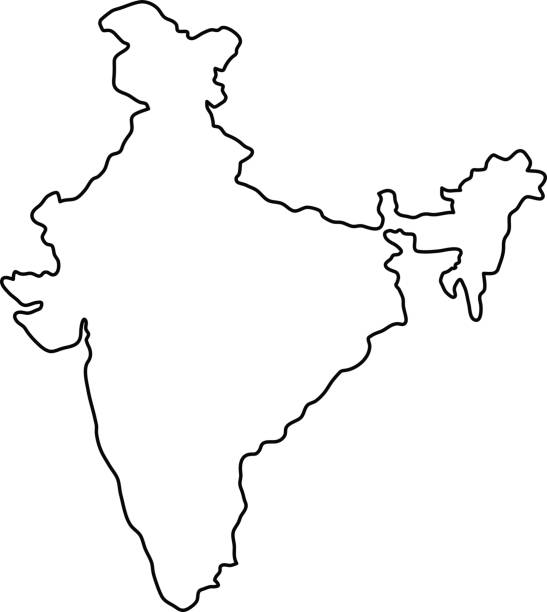 India map clipart black and white 8 » Clipart Station.
