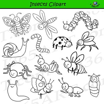 Insect clipart black and white 5 » Clipart Portal.