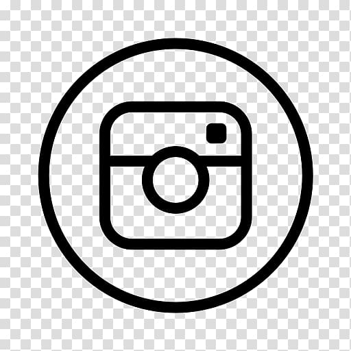 Logo Black and white, INSTAGRAM LOGO transparent background.