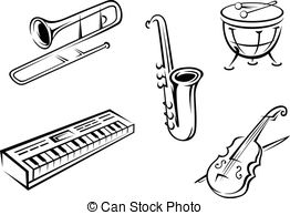 4483 Musical free clipart.