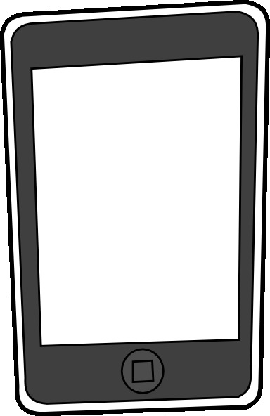 Black and white ipad clipart.
